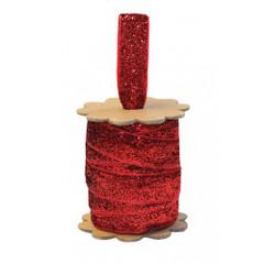 Glittery Ribbon Reel, Red