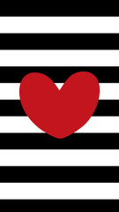 Black and White Stripe Lunch Bags