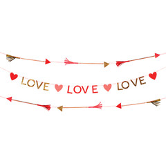 Valentine's Love Hearts Garland