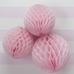 Pink Honeycomb Balls