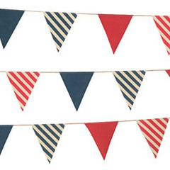 Bunting, Nautical Canvas Banner