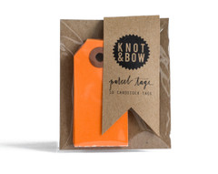 Parcel Tag: 10 pumpkin orange