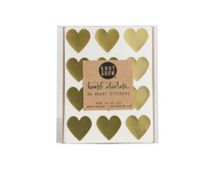 Heart Stickers: 36 Gold