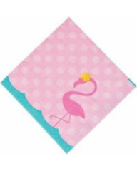 Forever Flamingos Beverage Napkins