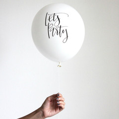 Balloons, Calligraphy Let's Party