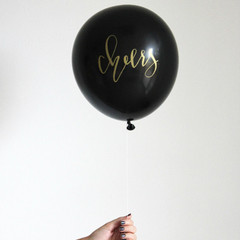 Balloons, Calligraphy Cheers