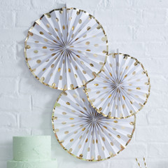 Delicious Dots Gold Foil Pinwheels