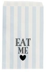 Miss Etoile Paper Bags, Blue Stripe, Eat Me