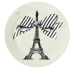 Miss Etoile Plates, Eiffel & Pastel Green