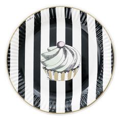 Miss Etoile Plates, Cake & Black Stripe Dessert