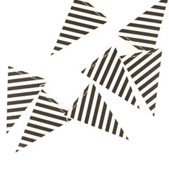 B&W Striped Pennant Banner