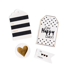 B&W Gift Tags