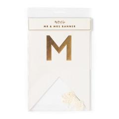 Fancy Mr & Mrs Letter Banner
