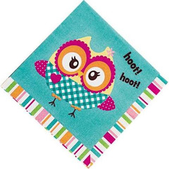 Owl Party Beverage  Napkins