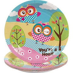 Owl Party Dessert Plate