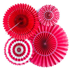 Paper Pinwheels, Red Party Fans