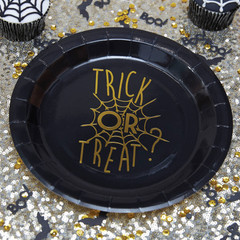 Trick or Treat, Large Foiled Plates