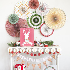 The Holiday Collection: Party Fan Pinwheel Decorations