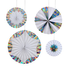 Holographic Silver Foil Pinwheels
