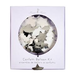 Confetti filled Balloon Kit, Silver