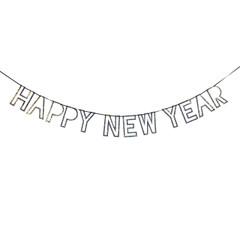 New Year's Garland, Silver Glitter