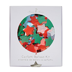 Confetti filled Balloon Kit, Christmas Colors