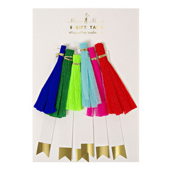 Gift Tags, Colorful Tassels