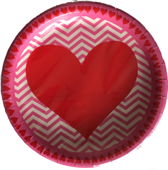 Heart & Chevron Dinner Plates