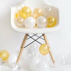 Balloons: 36 White Metallic Mixed Minis