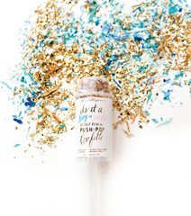 GENDER REVEAL PUSH-POP CONFETTI™ - Boy