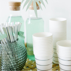 Silver Stripes, Beverage Cups