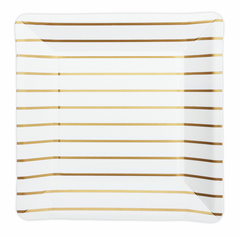 Gold Stripe, Plates, Large