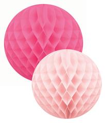Honeycomb Ball Set, Pink
