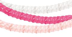 Honeycomb Tissue Garland, Pink