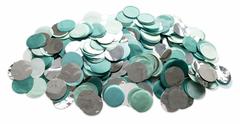 Confetti, Green & Silver