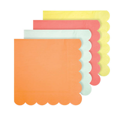 Neon Party Napkins, Large