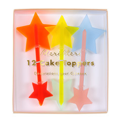 Neon Stars, Cupcake Toppers