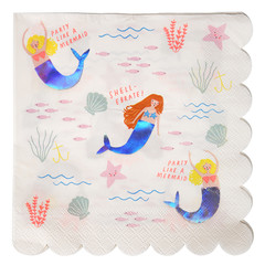 Mermaid Napkins, Large