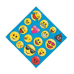 Emoji lunch napkins