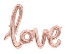 "Gold Foil Script Balloon ""Love"""