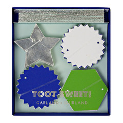 Toot Sweet Blue and Silver Garland