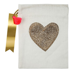 Glitter Heart Party Bag