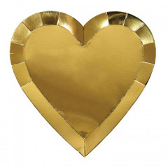 Gold Heart Plates, Large
