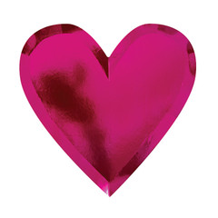Deep Pink Heart Plates, Large