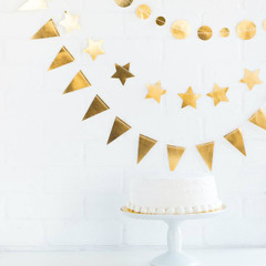 Mini Banner Set, Gold
