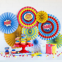 Super Hero Party Pinwheels