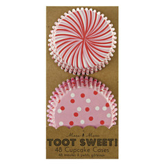 Toot Sweet Pink and Red Cupcake Liners