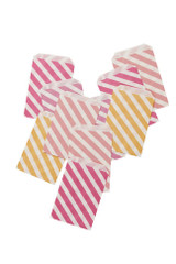 Pink Shimmer Stripy Treat Bags