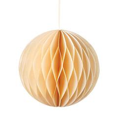Honeycomb Ball, Cream w/ Glitter
