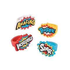 Super Hero Rubber Rings